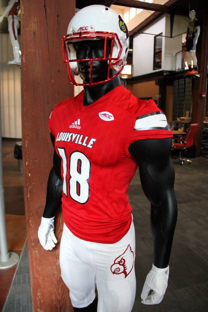 University of Louisville football uniform at the El toro office in louisville ky
